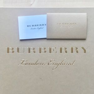 BURBERRY Medium Empty Shoe Box w/ Care Card Only